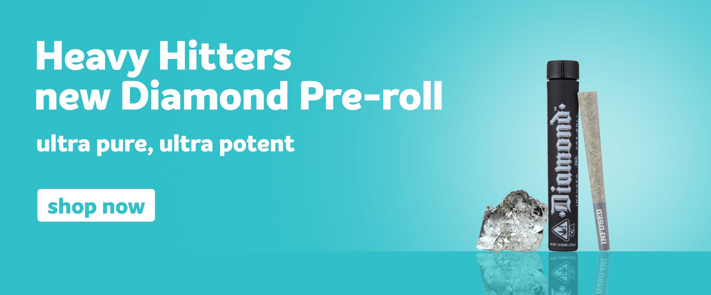Heavy Hitters Diamond Pre-rolls on Grassdoor Delivery